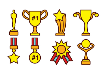 Free Award and Trophy Vector Pack - Free vector #399803