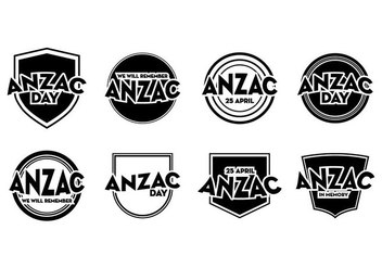 Free Anzac Day Badge Vector - Free vector #399843