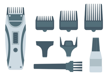Free Hair Clippers Icons Vector - Free vector #399933
