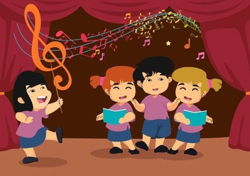 Free Kids Choirs Vector - vector gratuit #399973