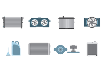 Free Car Radiator Vector - Free vector #400163