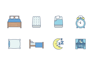Free Sleep Time Vector Icon - vector #400213 gratis