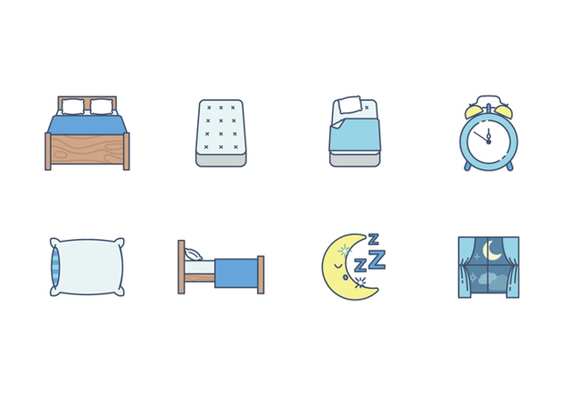Free Sleep Time Vector Icon - Free vector #400213