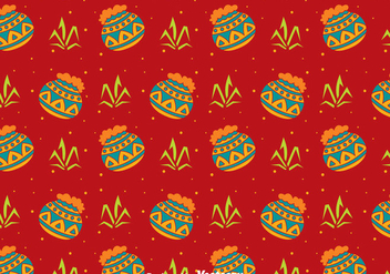 Happy Pongal Seamless Pattern - Free vector #400303