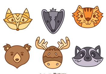 Hand Drawn Forest Animal Vector Set - vector gratuit #400343