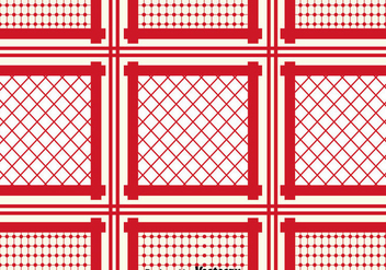 Red Keffiyeh Pattern Background - vector gratuit #400353