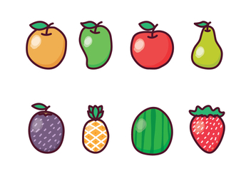 Free Fruit Icon Set - vector gratuit #400373