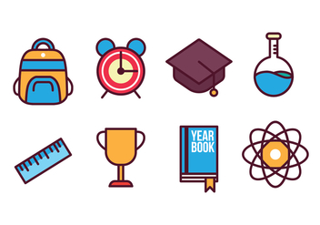 Free School Icon Set - vector #400383 gratis