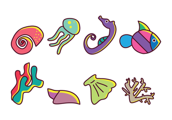 Free Coral Reef Vector Pack - Free vector #400403