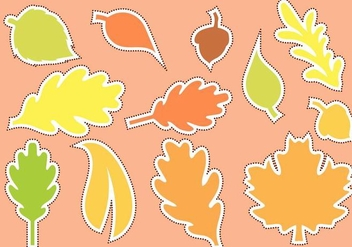 Free Die Cut Autumn Shape Vector - Free vector #400533