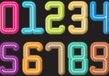 Colorful Slinky number - vector gratuit #400543