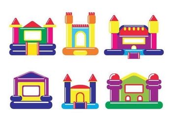 Bounce house vector - Free vector #400563