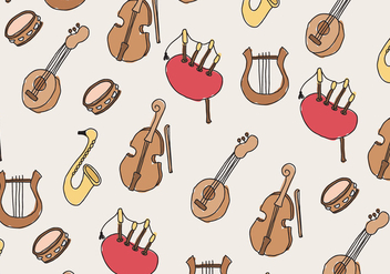 Music Pattern - vector gratuit #400583