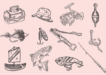 Fishing Icon Set - бесплатный vector #400593