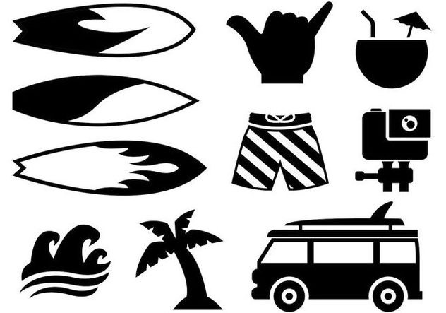 Free Surfing Icons Vector - Free vector #400603
