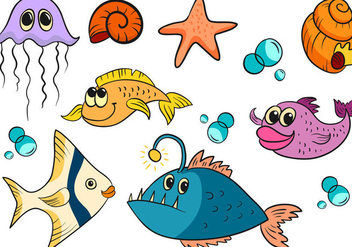 Free Cute Fish Vectors - Free vector #400633