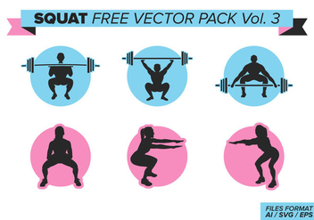Squat Free Vector Pack Vol. 3 - vector #400703 gratis