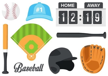 Free Baseball Element Vector - Kostenloses vector #400713