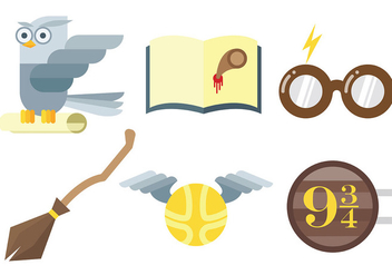Free Hogwarts Icons Vector - Kostenloses vector #400723