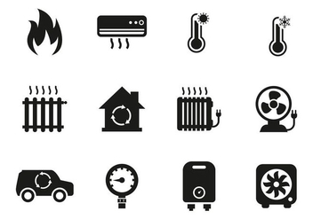 Free Heating and Cooling Icons Vector - Free vector #400763