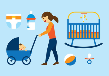Babysitter Flat Free Vector - Free vector #400773