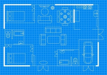 Free Home Floorplan Vector - бесплатный vector #400793