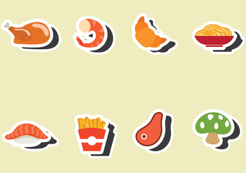 Restaraunt Fridge Magnet Vector - бесплатный vector #400853