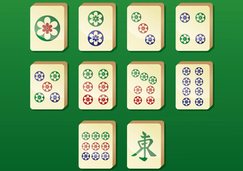 Mahjong Vector Icons - бесплатный vector #400863