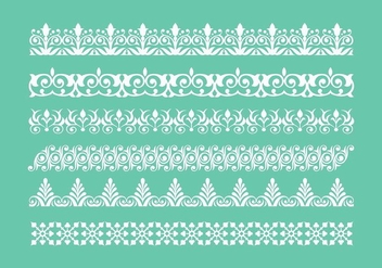 Free Lace Trim Icons Vector - Free vector #400883