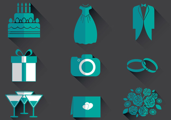 Wedding Planner Icon Vectors - vector gratuit #400893