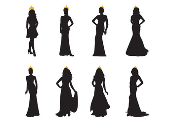 Free Pageant Silhouette Vector - Kostenloses vector #400913