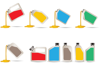 Vector Illustration Pouring Motor Oil - Kostenloses vector #400943