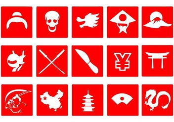 Free Japanese Icons Vector - vector #400973 gratis