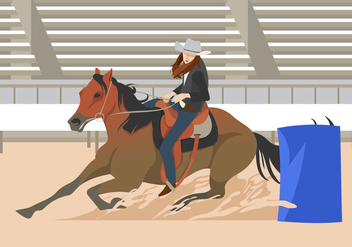 Barrel Racing Event - vector #401043 gratis
