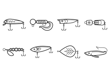 Free Fishing Tackle Icon Vector - Free vector #401063