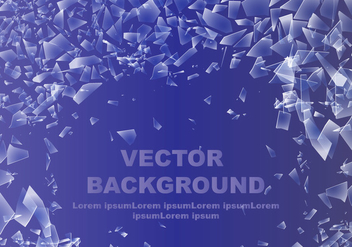 Abstract Shattered Glass Background - Free vector #401083