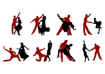 Free Samba Dance Silhouettes Vector - Free vector #401113