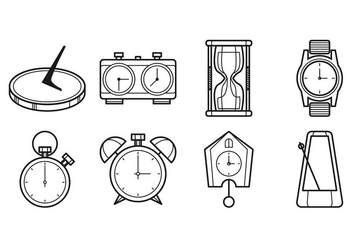 Free Clock Icon Vector - Free vector #401123