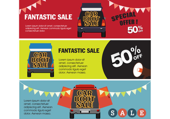 Banner Car Boot Sale Vectors - vector gratuit #401153