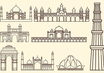 World Landmark Icon - vector #401193 gratis