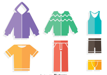 Colorful Tracksuit Flat Icons Vector - vector gratuit #401233
