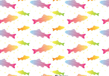 Rainbow Trout Seamless Pattern Vector - Free vector #401263