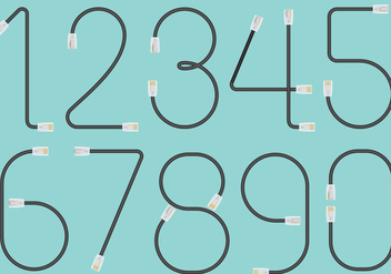 RJ45 Cable Numbers - Free vector #401303