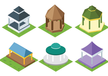 Free Gazebo Icons Vector - бесплатный vector #401323