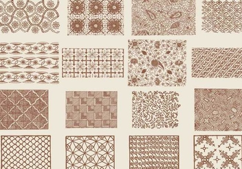 Brown Toile Textures - бесплатный vector #401383