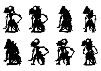 Free Wayang Silhouette Vector - Free vector #401413