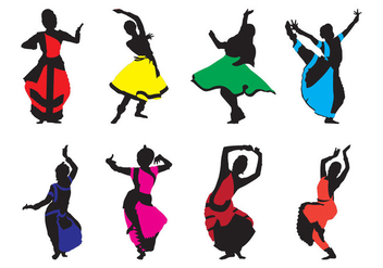 Free Traditional Indian Dance Vector - vector gratuit #401453