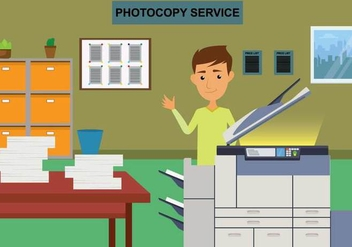Free Photocopier Illustration - vector gratuit #401463