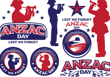 Anzac Day labels - vector #401473 gratis