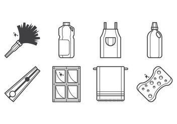 Free Cleaning Tool Icon Vector - vector #401613 gratis